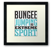 Bungee Jumping Extreme Sport Framed Print