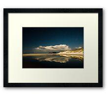 Rarawa Beach at night Framed Print