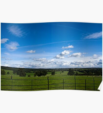 Yorkshire Dales From Canon Hall, Barnsley. Poster