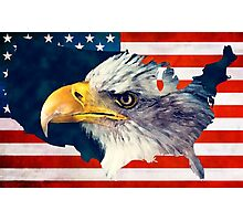 USA flag eagle Photographic Print