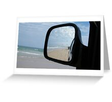4WD view rear vision (Double Island Point) Greeting Card