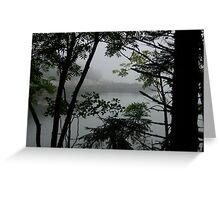 Mist Through leaves Greeting Card