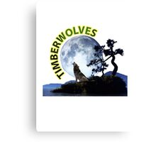 Timberwolves Collectors T-shirts and Stickers Canvas Print