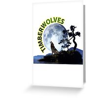 Timberwolves Collectors T-shirts and Stickers Greeting Card