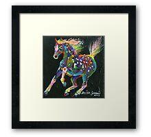 Raindrop Pony Framed Print