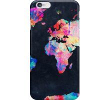 World Map watercolor 2 iPhone Case/Skin