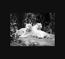White Siberian Tigers T/shirt Womens Fitted T-Shirt