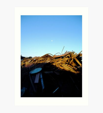 rubble at dusk Art Print