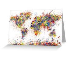 World Map splats Greeting Card