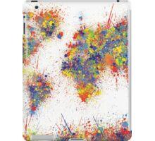 World Map splats iPad Case/Skin