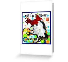 Checkers Cancer Greeting Card