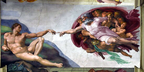 "Michelangelo ""The Creation of Adam' by Chris Steele"