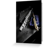 Flute and Piccolo, Select Color Piccolo Greeting Card