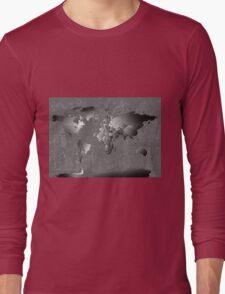World Map silver Long Sleeve T-Shirt