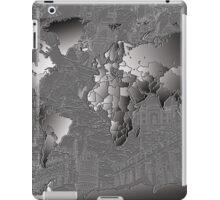World Map silver iPad Case/Skin
