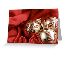 Red and Gold Christmas Background Greeting Card