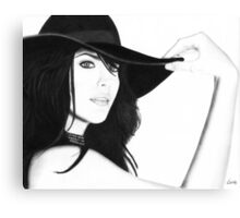 Liv Tyler Pencil Drawing (Lord of the Rings actress) Canvas Print