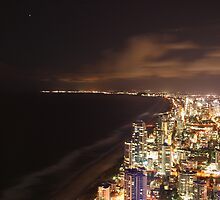 Gold Coast at night by Shane Galvin