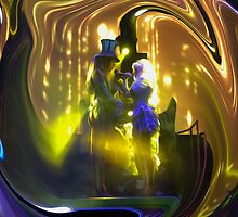 Mad T Party Mad Hatter and Alice by doodlewizard