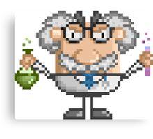Pixel Art Mad Scientist Canvas Print