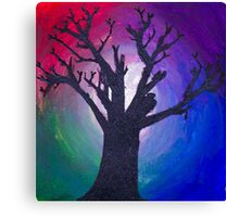 The Dark Tree and the Colorful Beyond Canvas Print