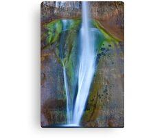 Desert Falls Abstract Patterns and Colors, Calf Creek Falls, Utah Canvas Print