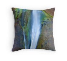 Desert Falls Abstract Patterns and Colors, Calf Creek Falls, Utah Throw Pillow