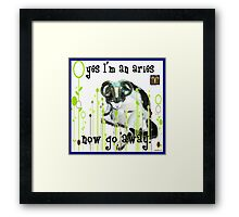 Checkers Aries Framed Print