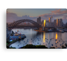 Sparkle - Sydney (Colour) - Moods Of A City - The HDR Experience Canvas Print