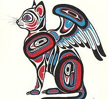 Winged Cat by jennid3