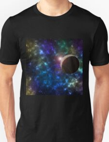 Galaxy and Planet design. Unisex T-Shirt