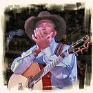 """""""George Strait, The Closeup""""...prints and products by © Bob Hall"""