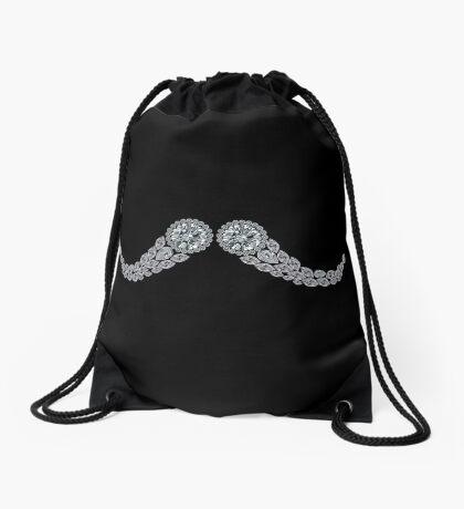 Diamond Moustache Drawstring Bag