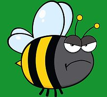 Angry bee by borines