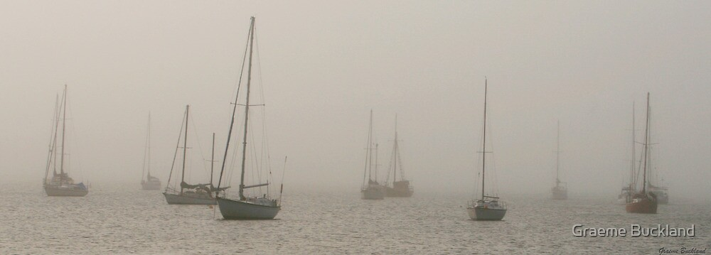 Misty Morning At Eastern Beach Geelong by Graeme Buckland