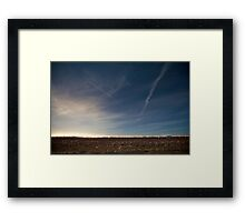International Space Station and shuttle Atlantis STS-129 Framed Print