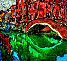 Venice Small Bridge Fine Art Print by stockfineart