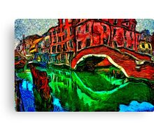 Venice Small Bridge Fine Art Print Canvas Print