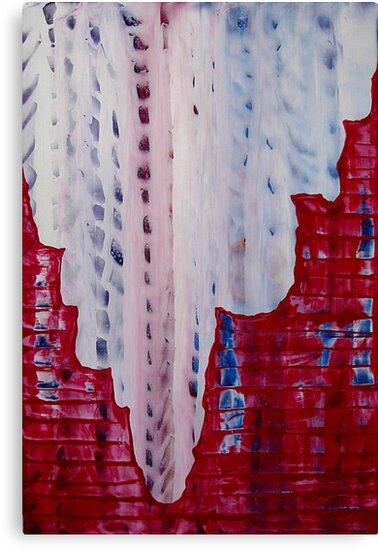 Snowy Canyon original painting by CrowRisingMedia