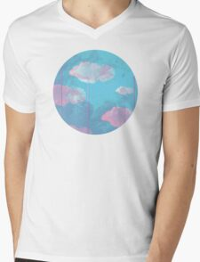Cloud Mens V-Neck T-Shirt