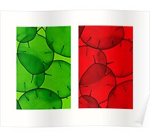 green & red honesty Poster