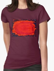 Alchemical Sunrise original painting Womens Fitted T-Shirt