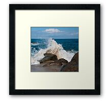 Tranquil Browns And Blues Framed Print