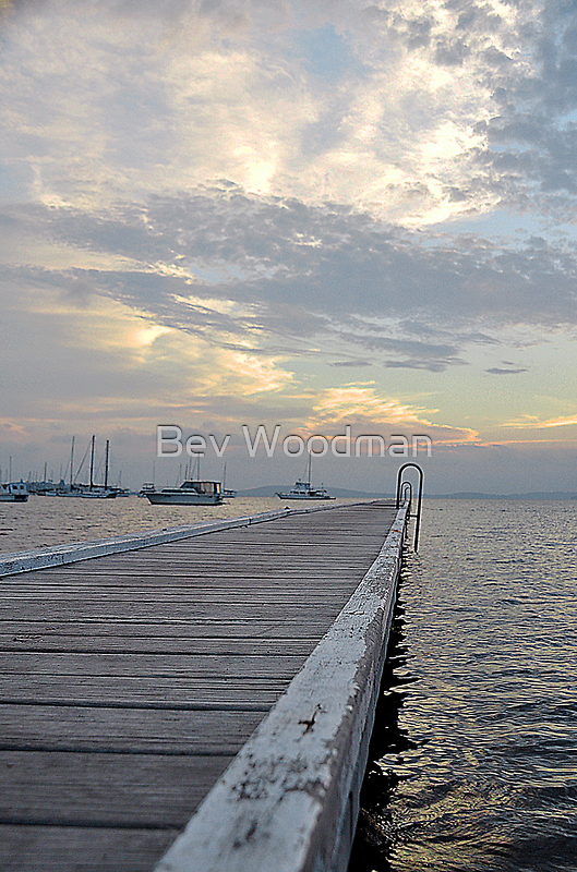 Belmont Jetty - NSW Australia by Bev Woodman