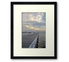 Belmont Jetty - NSW Australia Framed Print