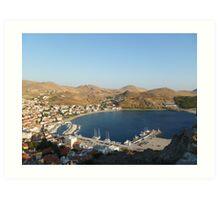 Port of Myrina Art Print