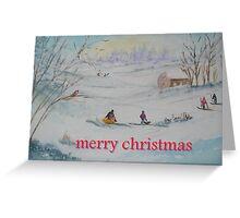 Fun in The Snow Greeting Card