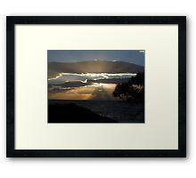 Cloudy Sun Rays Framed Print