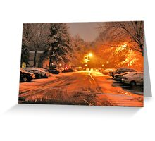 "'""A Snowy Evening in Knoxville' (a series, no.1)""... prints and products Greeting Card"
