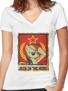 Join in the Herd Women's Fitted V-Neck T-Shirt